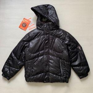 HAWKE CO Weather Resistant Hooded Black Jacket
